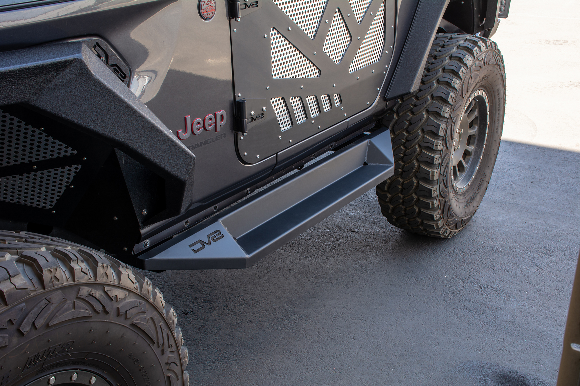 Jeep JL Boxed Slider/ Step 18-Present Jeep Wrangler JL 2 Door DV8 Offroad