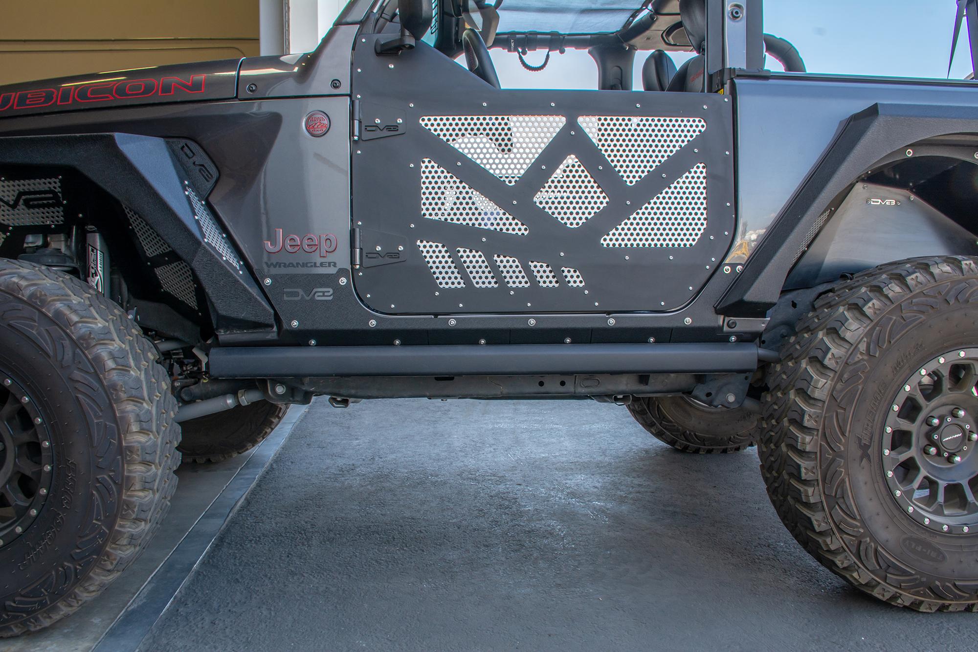 Jeep JL Rock Skins 18-Present Jeep Wrangler JL 2 Door DV8 Offroad
