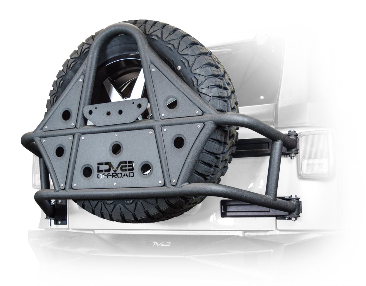 Tire Carrier 07-18 Jeep Wrangler DV8 Offroad