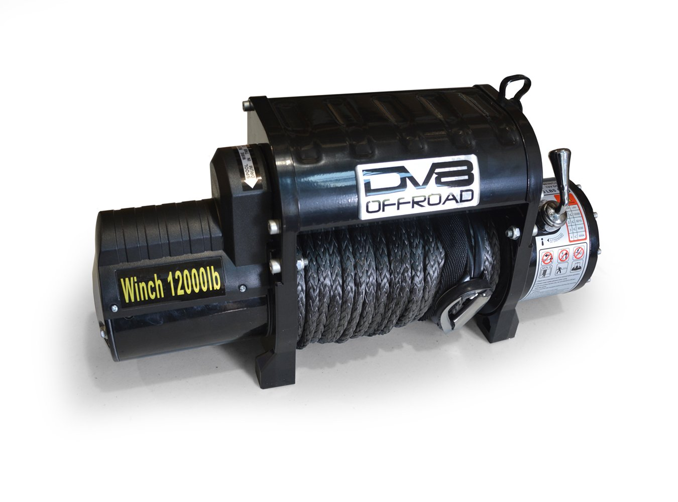12000 LB Winch Black w/Synthetic Line and Wireless Remote DV8 Offroad