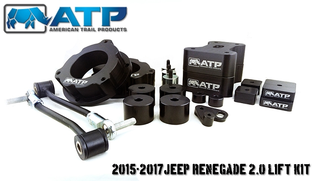 ATP 35150001 2 Inch Lift Kit Black Kit Fits Jeep Renegade/Compass