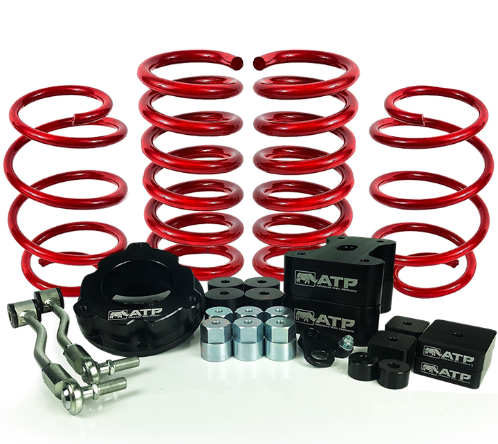 ATP 35150002 4 Inch Lift Kit 4WD Only Black Kit Fits Jeep Renegade/Compass