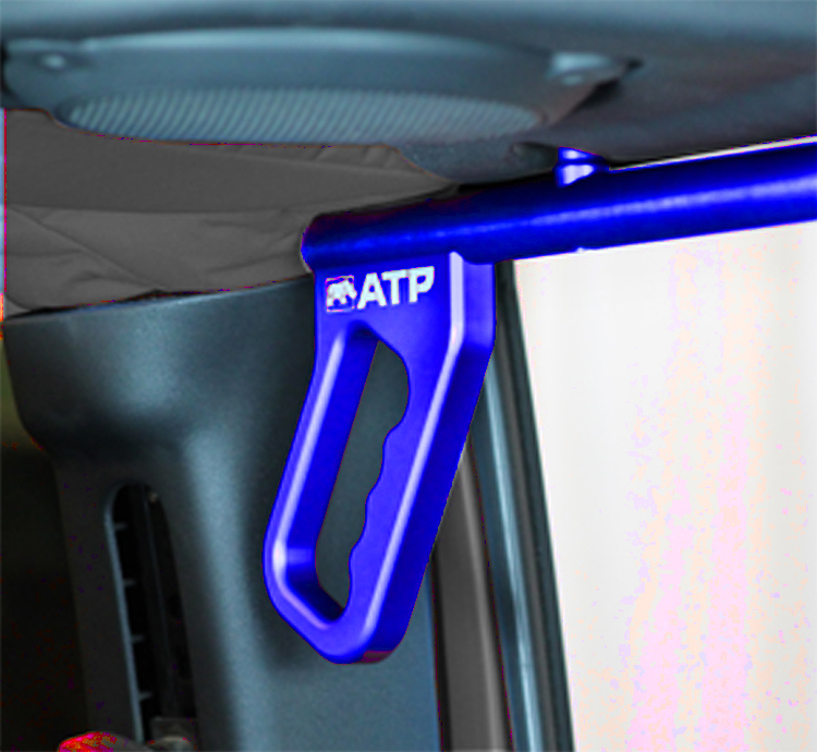 ATP 36070015B Billet Blue Grab Handles Fits 07-18 Wrangler JK 2/4 Door Rear