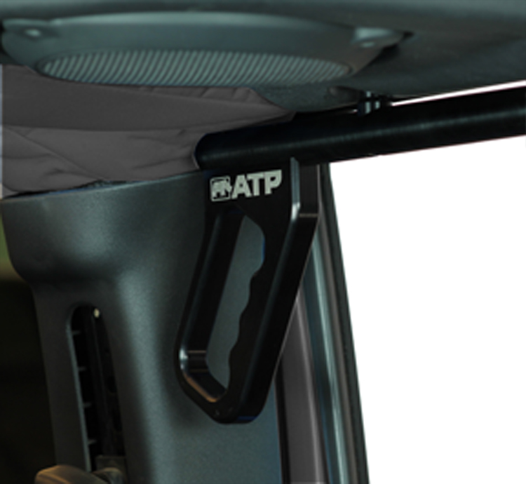 ATP 36070015K Billet Black Grab Handles Fits 07-18 Wrangler JK 2/4 Door Rear