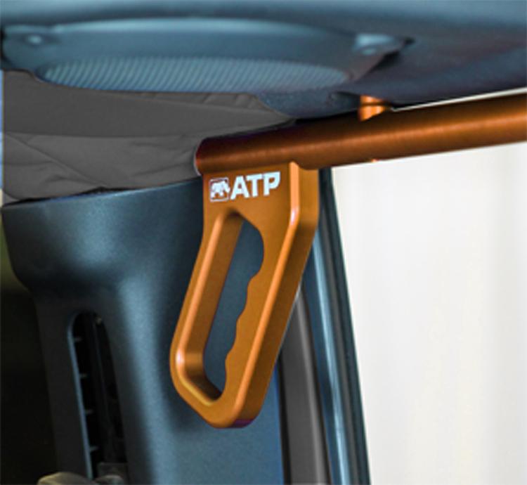 ATP 36070015O Billet Orange Grab Handles Fits 07-18 Wrangler JK 2/4 Door Rear