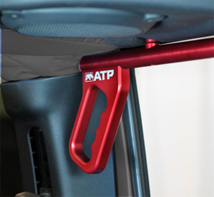 ATP 36070015R Billet Red Grab Handles Fits 07-18 Wrangler JK 2/4 Door Rear
