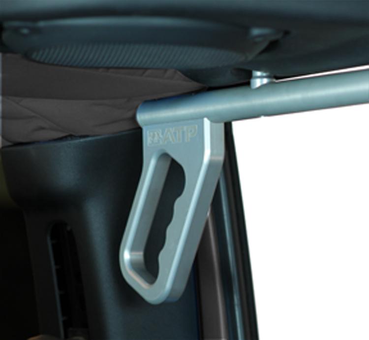 ATP 36070015S Silver Billet Grab Handles Fits 07-18 Wrangler JK 2/4 Door Rear