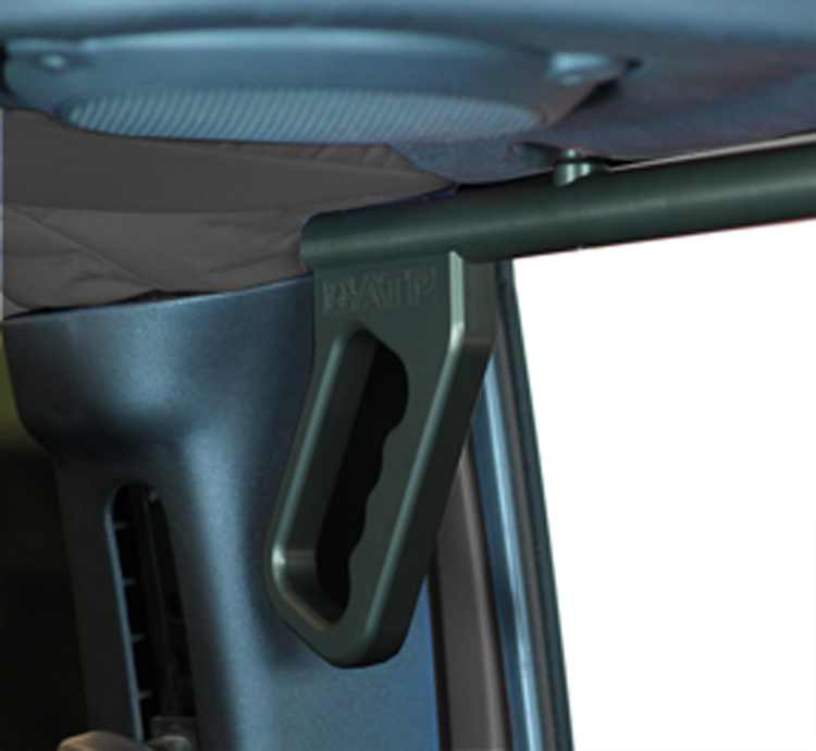 ATP 36070015Y Gray Billet Grab Handles Fits 07-18 Wrangler JK 2/4 Door Rear