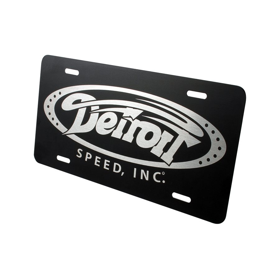 Detroit Speed  License Plate Black Anodized