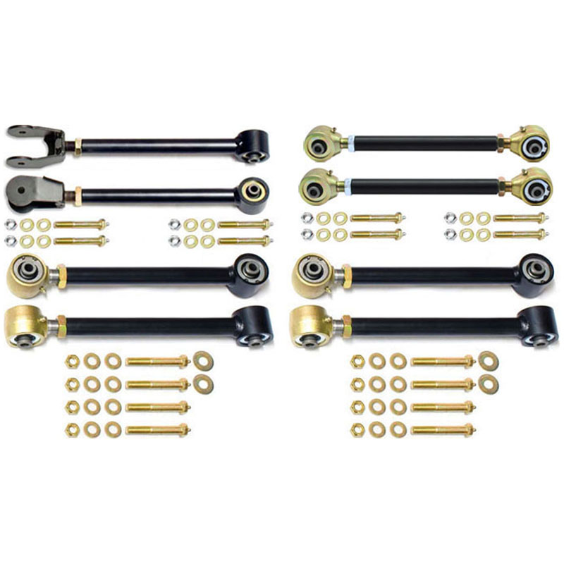 RockJock Complete Johnny Joint Control Arm Set w/Double Adjustable Rear Uppers - TJ