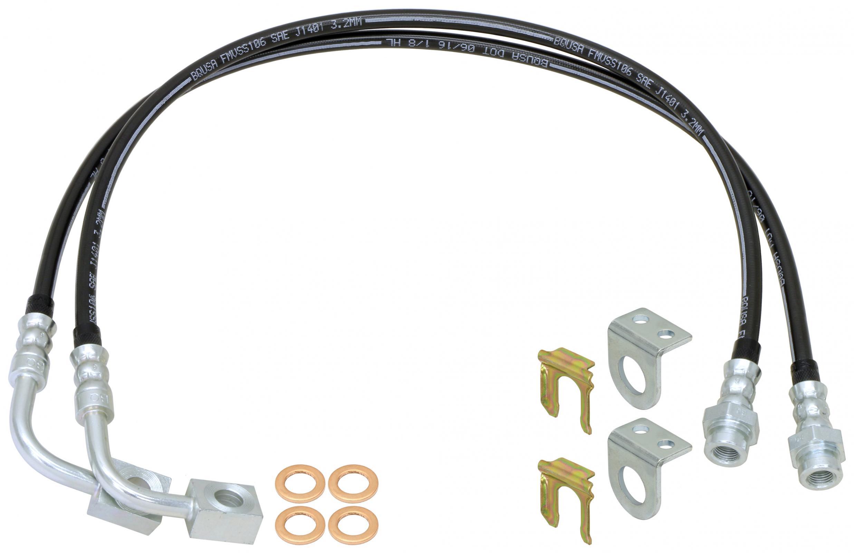 RockJock Braided Brake Line Kit - 23.5in - JK