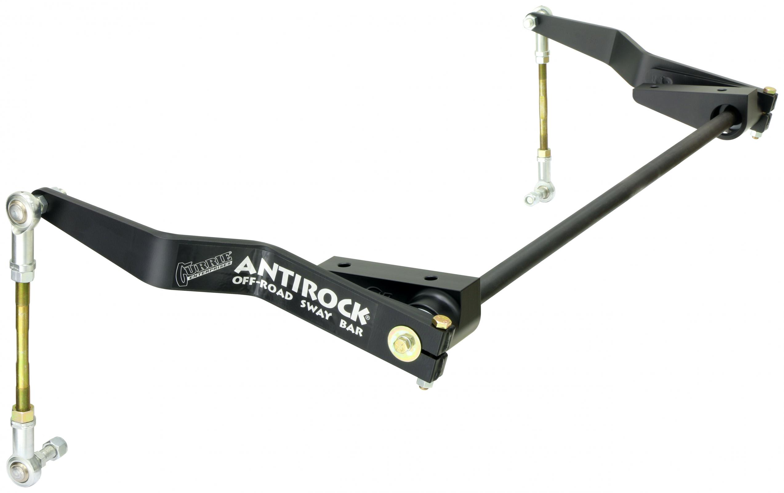 RockJock AntiRock Kit w/Aluminum Brackets and Steel Arms - Front - JK