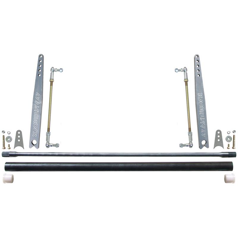 RockJock Universal AntiRock Sway Bar Kit w/20in Bent Aluminum Arms