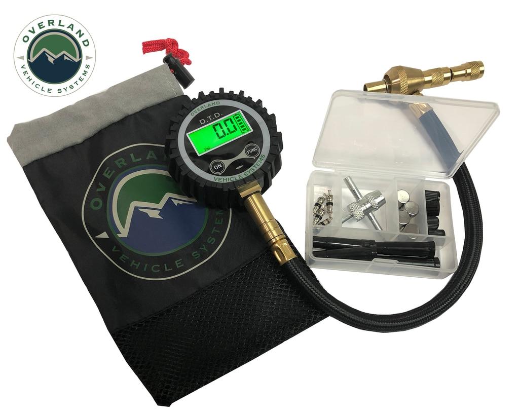Overland Vehicle Systems Digital Tire Deflator w/ Valve Kit and Storage Bag