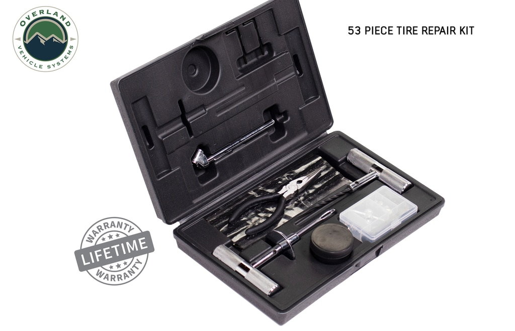 Overland Vehicle Systems 53 Piece Tire Repair Kit
