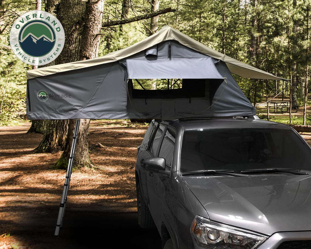 Overland Vehicle Systems 18031936 Nomadic 3 Extended Roof Top Tent With Annex - Gray