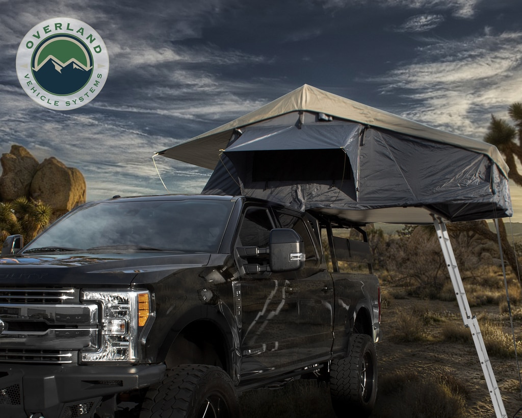 Overland Vehicle Systems Nomadic 4 Extended Roof Top Tent - Dark Gray/Green