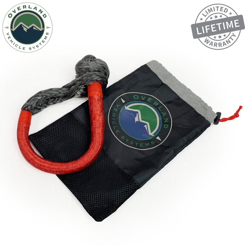 Overland Vehicle Systems 5/8in Soft Recovery Shackle w/Abrasive Protection Sleeve