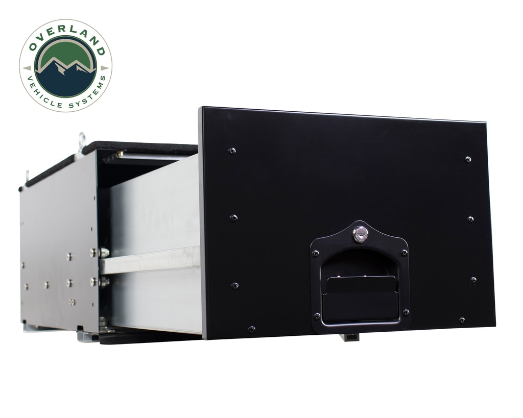 Overland Vehicle Systems Cargo Box w/Slide Out Drawer - Black Powdercoat