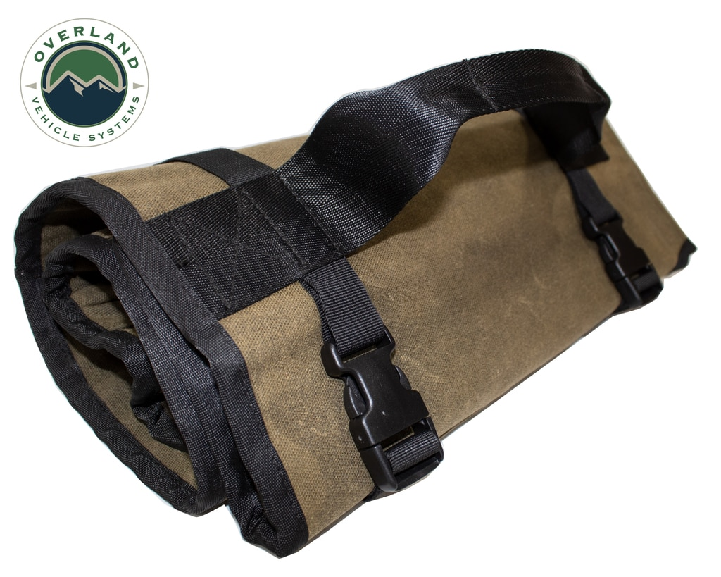 Overland Vehicle Systems Rolled Tools Bag, Waxed Canvas
