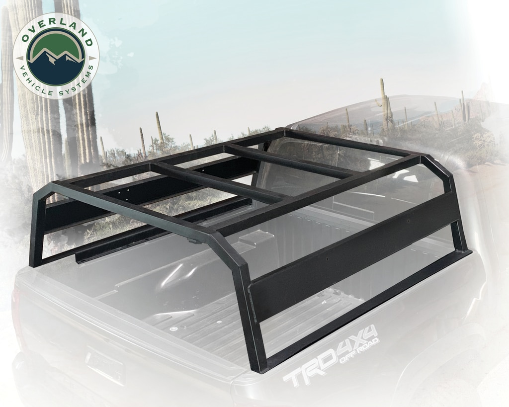 Overland Vehicle Systems 22020301 Discovery Rack - with side cargo plates, intergrated LED lights