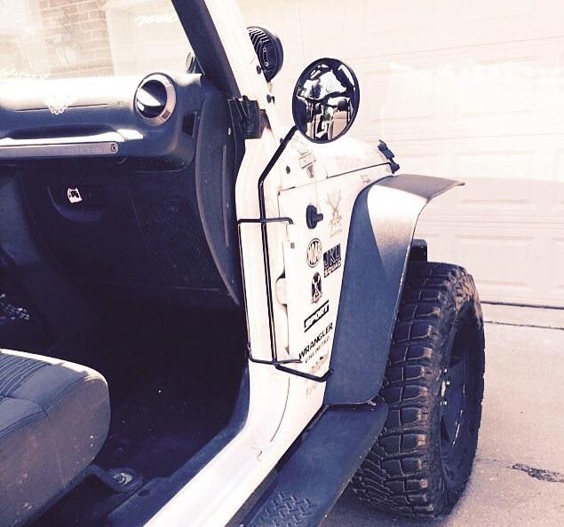 & KikBax Offroad Jeep JK Foot Pegs W/Mirrors 07-Current JK-JK Unlimited pezcame.com