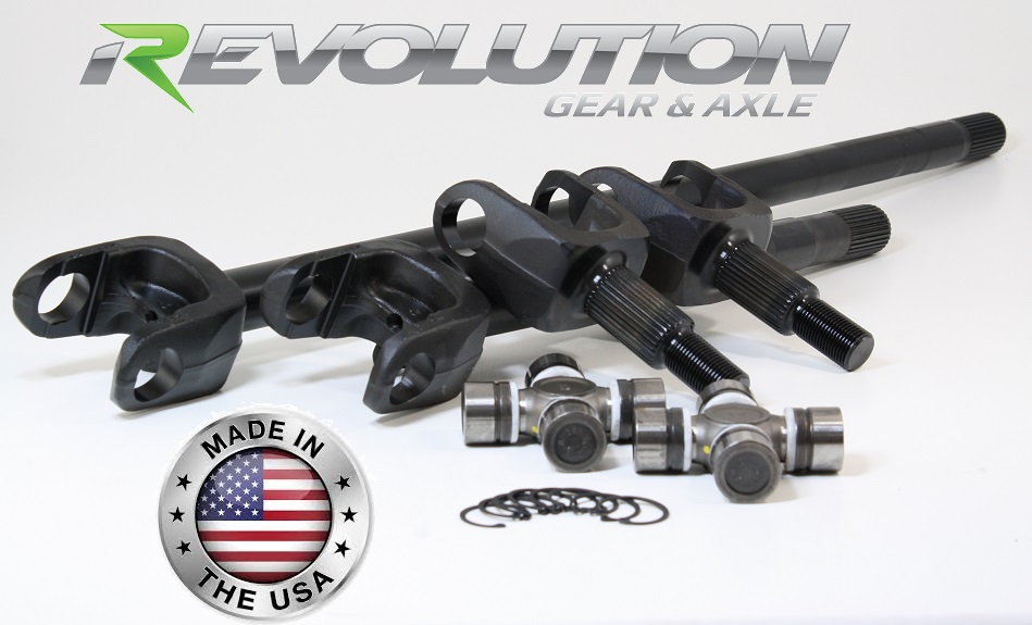 97-06 TJ, LJ, XJ and ZJ, US Made Front SUPER 30 Axle Kit