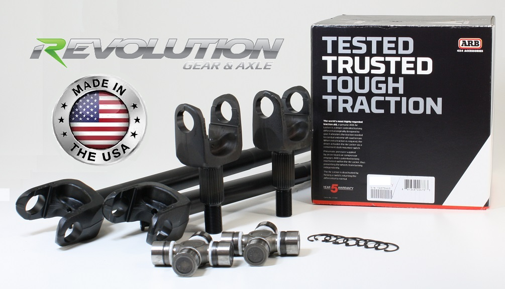 97-06 TJ, LJ, XJ and ZJ, US Made Front SUPER 30 Axle Kit w/ARB
