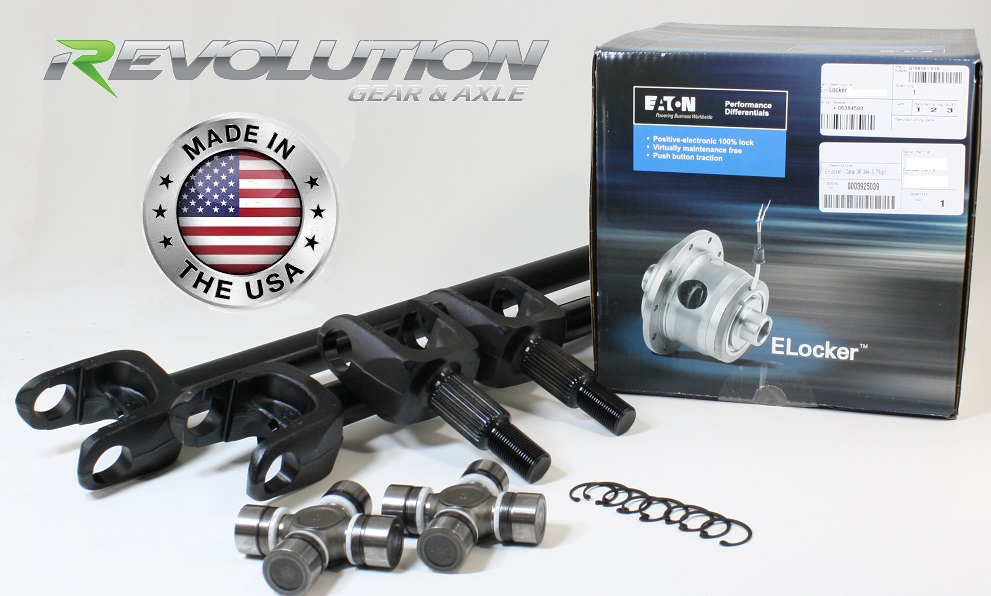 87-95 YJ, MJ and XJ, US Made Front SUPER 30 Axle Kit w/ E-Locker