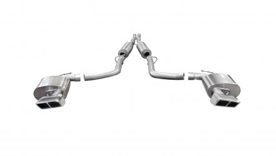 2.75 Inch Cat-Back Xtreme Dual Rear Exhaust GTX2 Polished