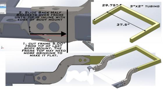 TJ/YJ Back Half Frame Kit Artec Industries | ASAP Network