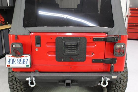 Jeep Tj Tailgate Plate 97 06 Wrangler Tj Black Textured